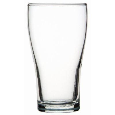 CROWN CONICAL POT 285ml CAPACITY BEER GLASS 48 PER CTN
