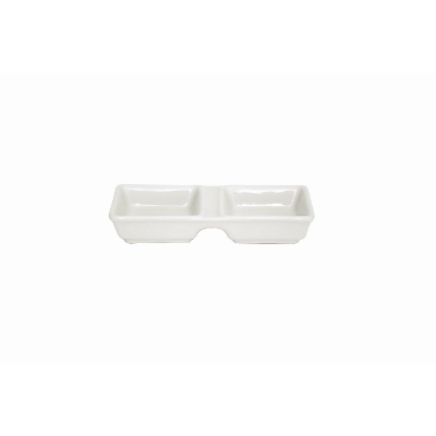 BISTRO CAFE CONDIMENT DISH 130 x60mm 2 DIVIDER DISH