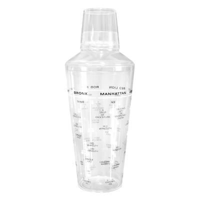 COCKTAIL SHAKER 750ml 3 PIECE ACRYLIC