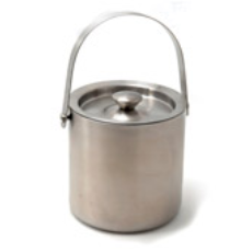 INSULATED ICE BUCKET WITH LID 1.8L STAINLESS STEEL
