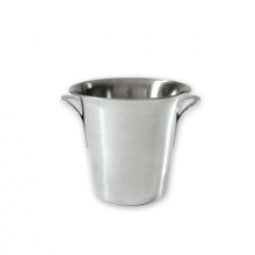 WINE BUCKET TAPERED BRUSHED STAINLESS STEEL WITH HANDLES