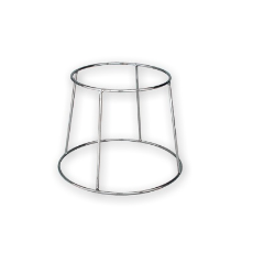 RING PLATE DOUBLE ENDED STAND CHROME 190x250mm 190mmH