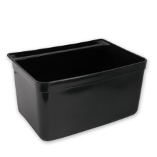 CATERRAX REFUSE BIN SML BLACK 20x17cm