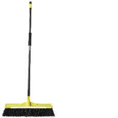 INDUSTRIAL BROOM SUPERTUFF 45 cm WITH HANDLE