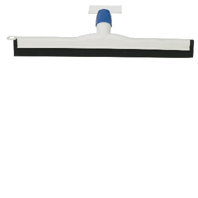 FLOOR SQUEEGEE 425mm POLY WHITE DOUBLE CHANNEL