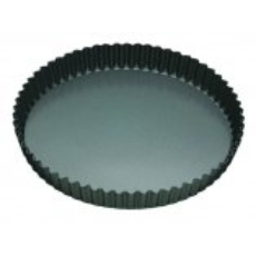 MASTERPRO QUICHE PAN FLUTED 25x3.5cm LOOSE BASE NON STICK ROUND