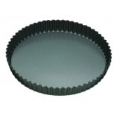 MASTERPRO QUICHE PAN FLUTED 20x3.5cm LOOSE BASE NON STICK ROUND