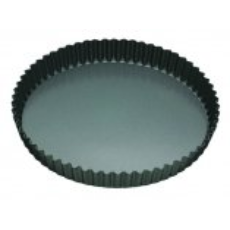 MASTERPRO QUICHE PAN  FLUTED 30x3.5cm LOOSE BASE NON STICK ROUND