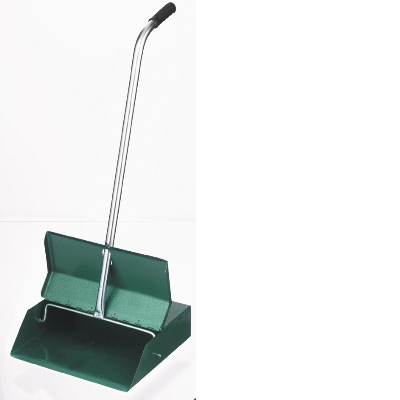 OATES UPRIGHT GREEN LOBBY PAN WITH LID METAL