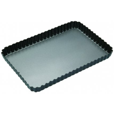 MASTERPRO RECTANGULAR QUICHE TIN 32x22x3.5cm NON STICK