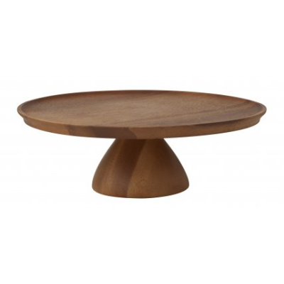 TASTE ACACIA WOOD FOOTED CAKE STAND 30cm x 10cmH