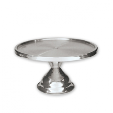 CAKE STAND HIGH 30cm STAINLESS STEEL