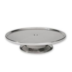 CAKE STAND MED 30cm STAINLESS STEEL