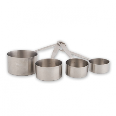 MEASURING CUPS 4 PIECE SET STAINLESS STEEL