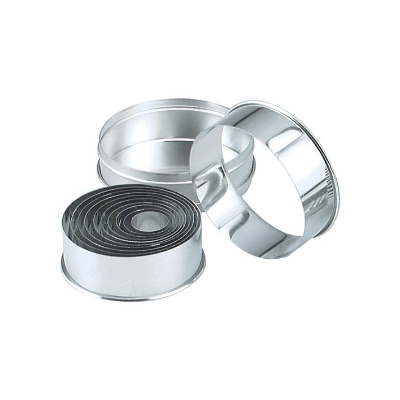 CUTTER SET ROUND 11 PIECE TIN PLATE 25-95mm