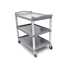 UNICA CART 3 TIER BLACK LARGE 940H x 890L x 540mmW