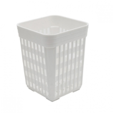 CUTLERY HOLDER PLASTIC SQUARE WHITE 100x100x140mm
