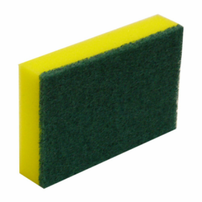 SCOURER AND SPONGE GREEN AND GOLD 150x100mm