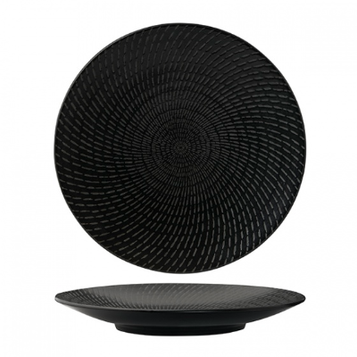 LUZERNE ZEN BLACK SWIRL COUPE PLATE 155mm