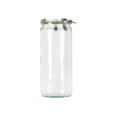 WECK 1040ml CYLINDER GLASS JAR WITH LID 80x210mm PRESERVE SERVING