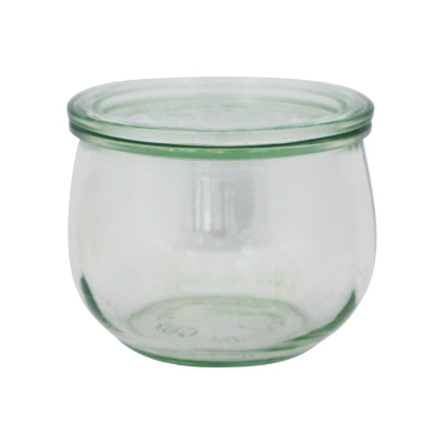 WECK 580ml TULIP GLASS JAR WIT H LID 100x85mm PRESERVE SERVING