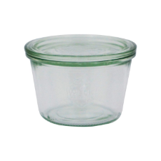 WECK 370ml GLASS JAR WITH LID PRESERVE SERVING 100x96mm