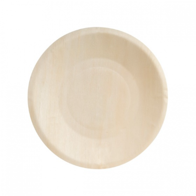BIO WOOD ROUND PLATE 190mm 10PKT