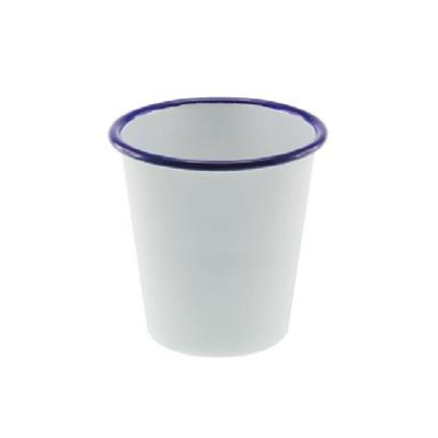 FALCON ENAMEL TUMBLER 300ml WHITE WITH BLUE RIM