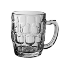 SHEFFIELD DIMPLE MUG 570ml BEER BADGED 24 PER CTN