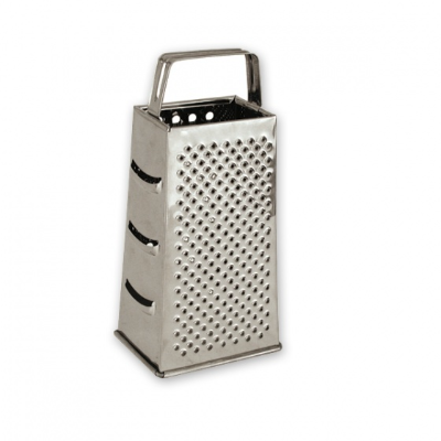 GRATER 4 SIDED S/S DELUXE HOLLOW HANDLE 24CM