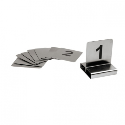 TABLE NUMBER SET FLAT S/S 1-10 70X60mm