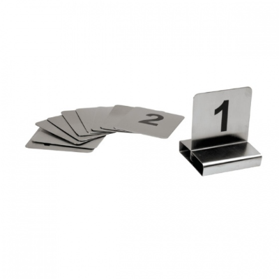 TABLE NUMBER SET FLAT S/S 21-3 0 70X60mm