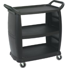 CARLISLE UTILITY CART BLACK 92cm x 46cm SMALL 3 TIER