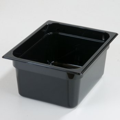 FOOD PAN 1/2 SIZE 150mm BLACK
