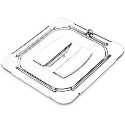 FOOD PAN LID 1/6 SIZE CLEAR W/HANDLE