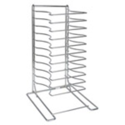 PIZZA TRAY RACK 15 SLOT CHROME FINISH FREE STANDING 82cmH