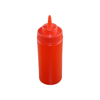 SQUEEZE BOTTLE RED 480ml WIDE MOUTH