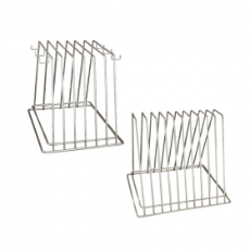 S/S 6 SLOT RACK FOR POLYBOARD W/ HOOKS FOR BRUSH