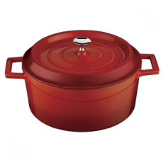 LAVA CASSEROLE 6.7L  ROUND 28 CM CAST IRON RED