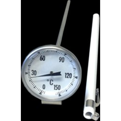 MILK JUG THERMOMETER LARGE W/ CLIP 20cm PROBE 0C TO 100C