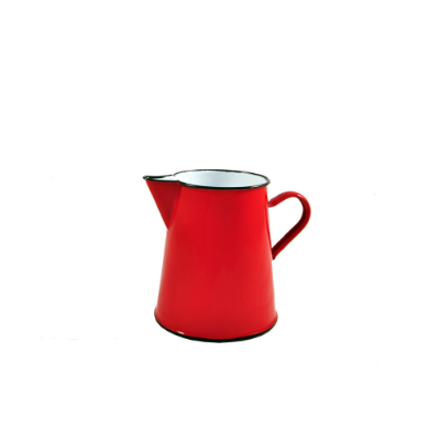 ENAMEL PITCHER 1L RED