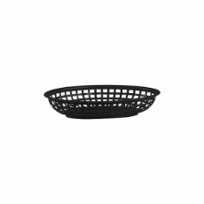 OVAL BREAD BASKET BLACK 240x150x50mm PLASTIC