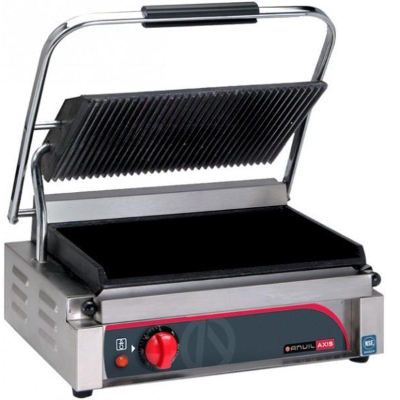 ANVIL PANINI PRESS RIBBED TOP SMOOTH BOTTOM PLATE