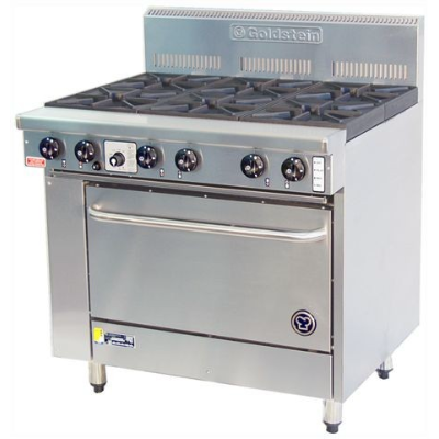 GOLDSTEIN GAS 6 BURNER OVEN 800 SERIES 914x800x1120 S/S NATURAL CONVECTION