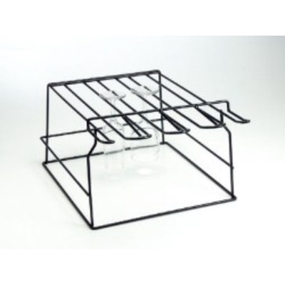GLASS RACK BREAKSTOP BLACK HOLDS 20 GLASSES