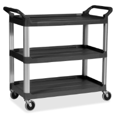 RUBBERMAID CART 3 TIER BLACK 85x47x96cm