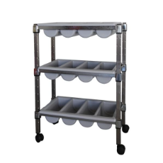 MANTOVA CUTLERY TROLLEY 3 TIE R CHROME TRAYS NOT INCLUDED