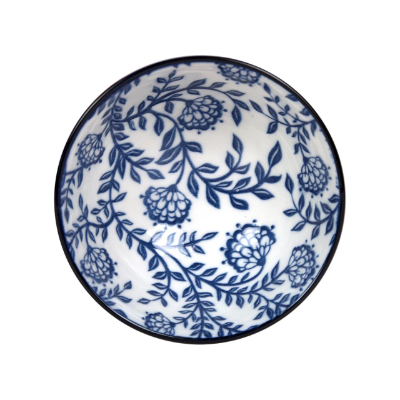 GUSTA OUT OF THE BLUE FLOWERS ROUND BOWL 100mm