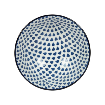 GUSTA OUT OF THE BLUE DROPS ROUND BOWL 120mm