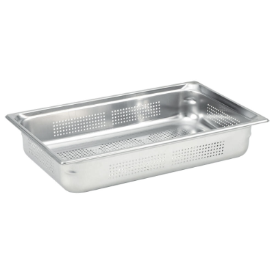 CHEF INOX STEAM PAN 1/1 100mm PERFORATED ANTI JAM